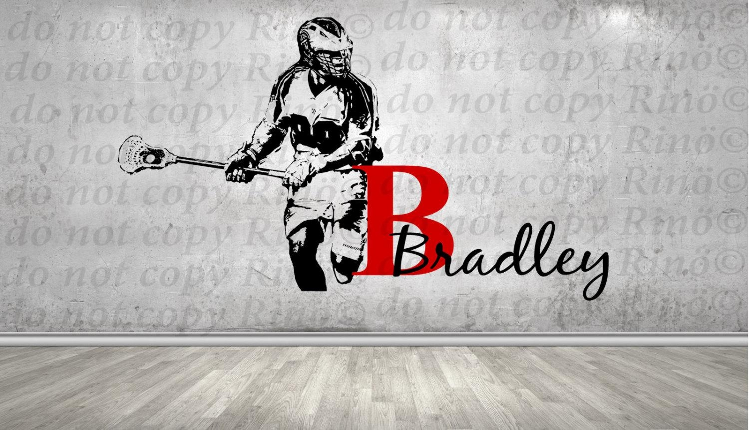 Lacrosse Decals Lax Wall Decal – Custom First Name Lacrosse Decor Regarding Lacrosse Wall Art (Image 7 of 20)