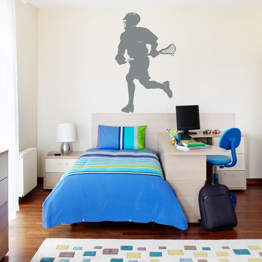 Lacrosse Player Wall Art Decal Intended For Lacrosse Wall Art (Image 8 of 20)
