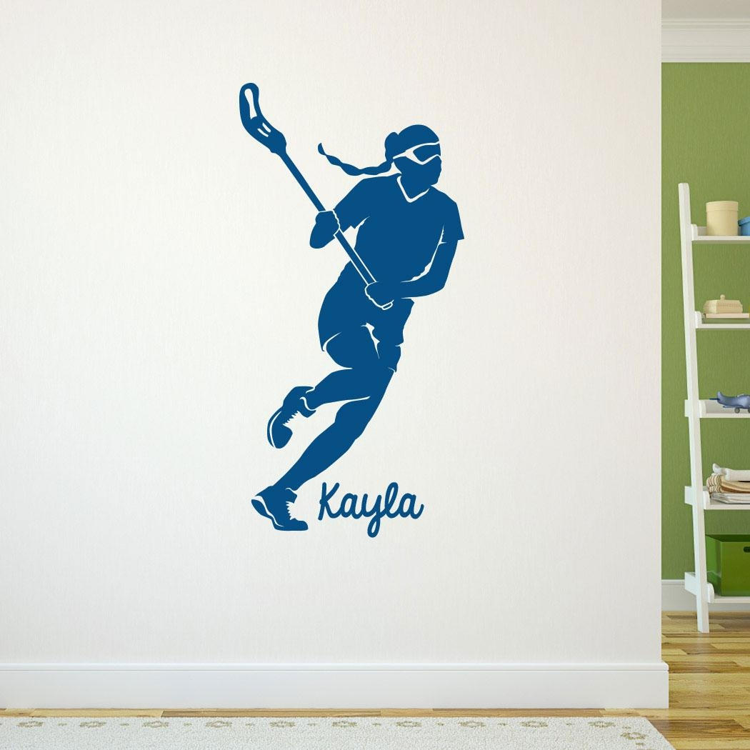 Lacrosse Removable Chalktalkgraphix Wall Decal Personalized Pertaining To Lacrosse Wall Art (View 14 of 20)