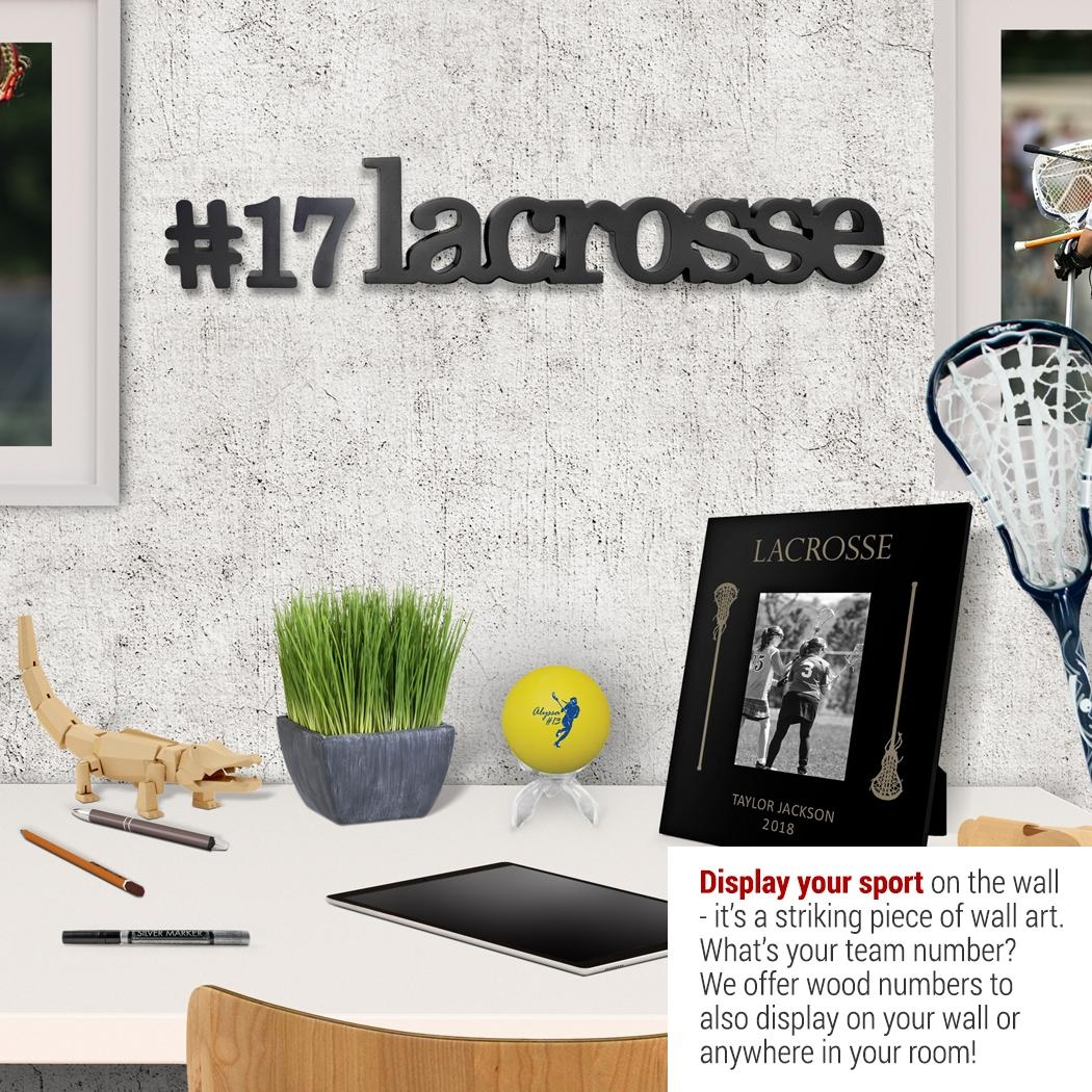 Lacrosse Wood Words | Chalktalksports Pertaining To Lacrosse Wall Art (View 16 of 20)