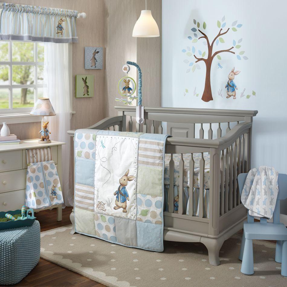 Lambs & Ivy Peter Rabbit 5 Piece Baby Nursery Crib Bedding Set W Within Peter Rabbit Nursery Wall Art (Image 9 of 20)
