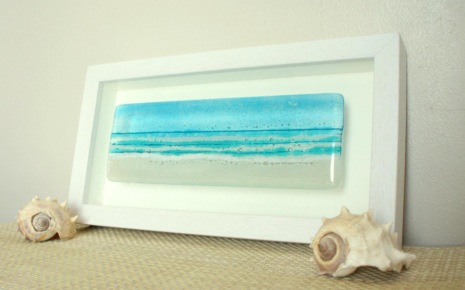 Landscape Beach In A Box Free Uk Delivery Landscape Panoramic Regarding Framed Fused Glass Wall Art (View 3 of 20)