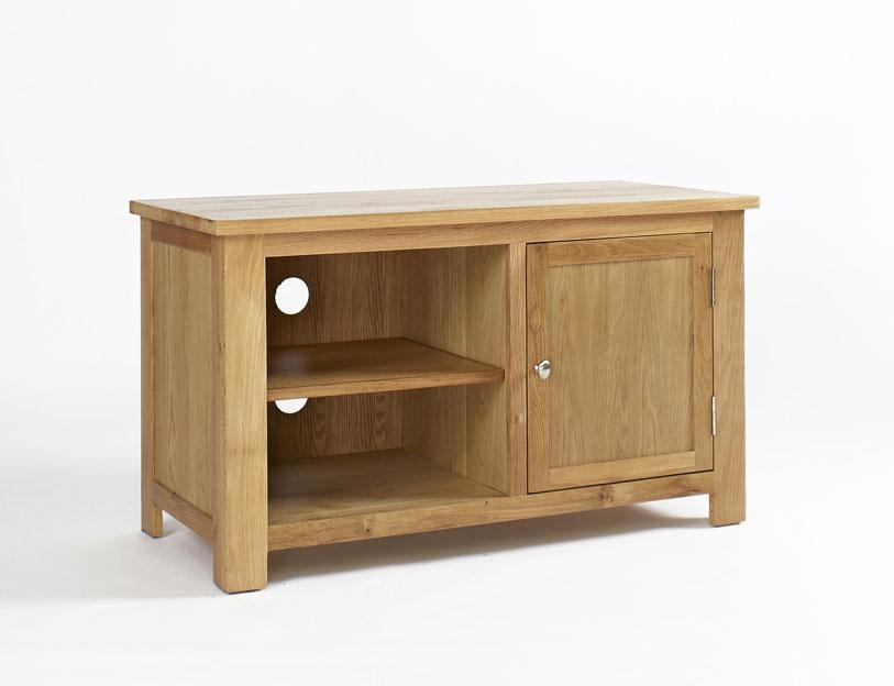 Lansdown Oak Tv Unit With 1 Door (View 16 of 20)