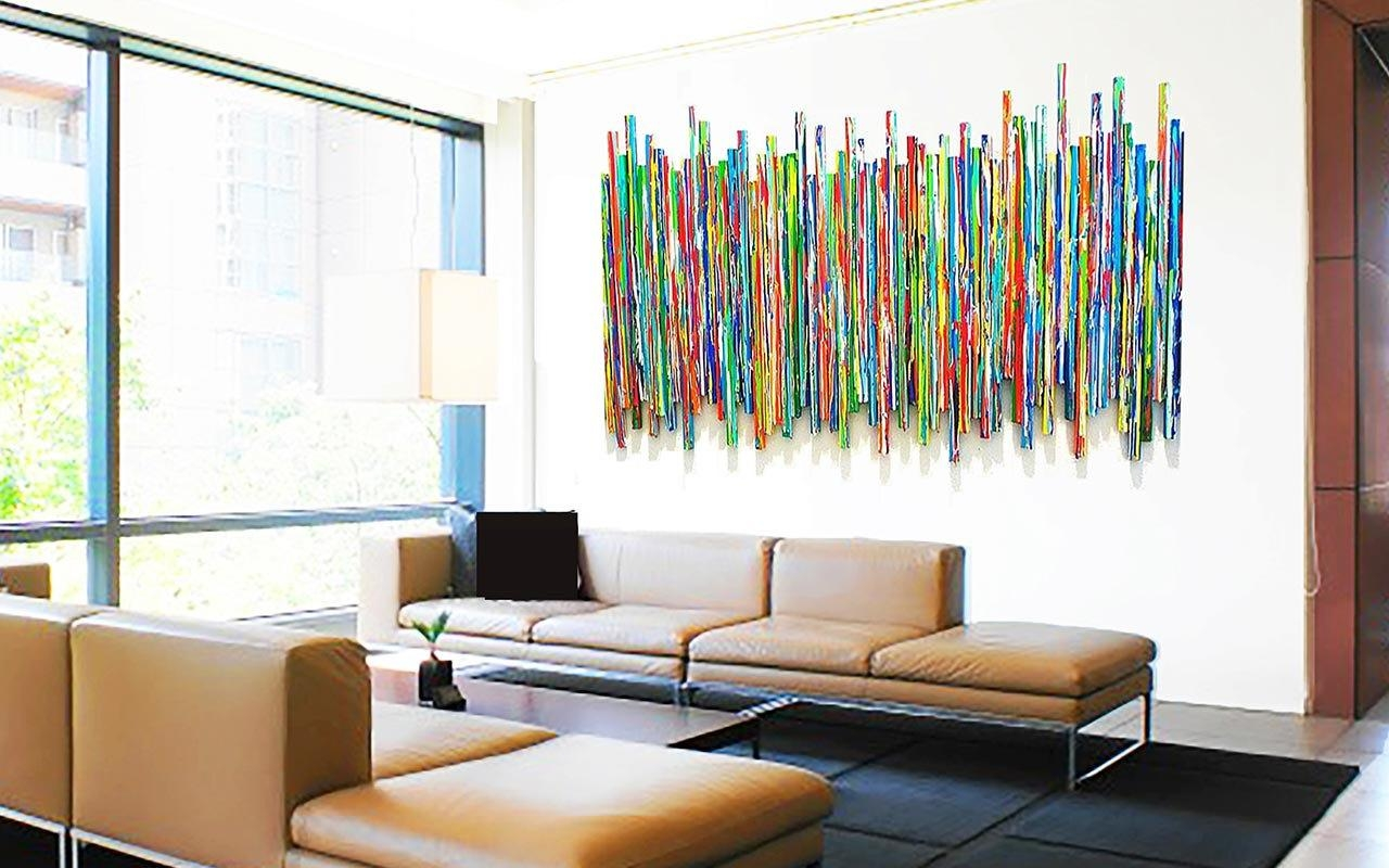 Large Abstract Wall Sculpture Original Contemporary Wall Art For Rose Mary Wall Art (Photo 7 of 20)