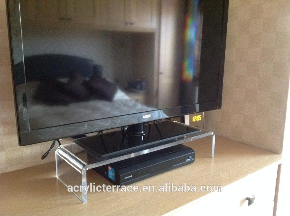 Large Clear Acrylic Lucite Perspex Monitor Pc Tv Stand – Buy Within Current Clear Acrylic Tv Stands (Image 13 of 20)