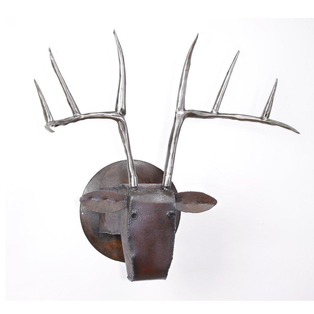 Large Deer Headben Gatski And Kate Gatski (Metal Wall Throughout Metal Animal Heads Wall Art (Image 7 of 20)
