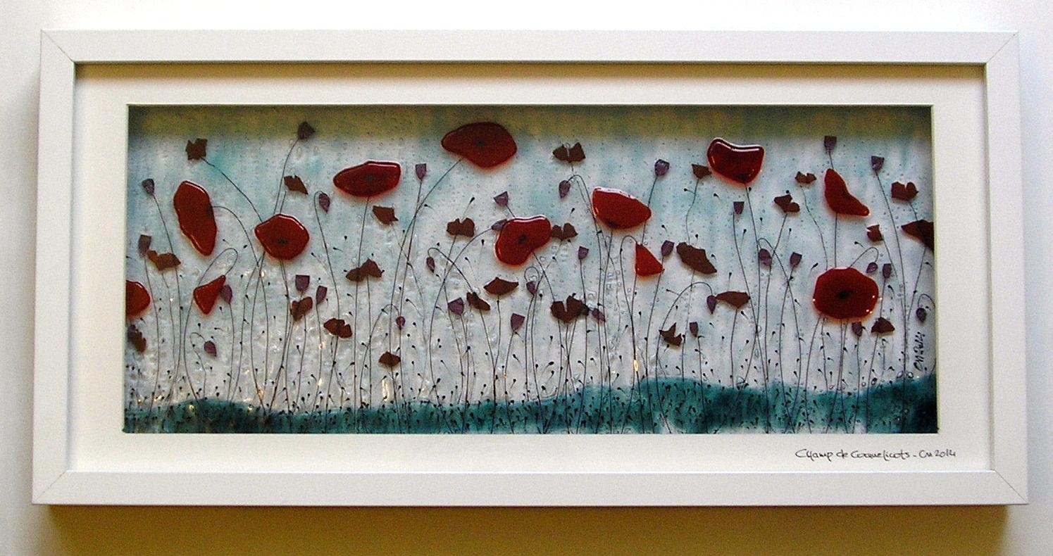 Large Framed Panels – Inlight – Contemporary Fused Glass Regarding Framed Fused Glass Wall Art (View 4 of 20)