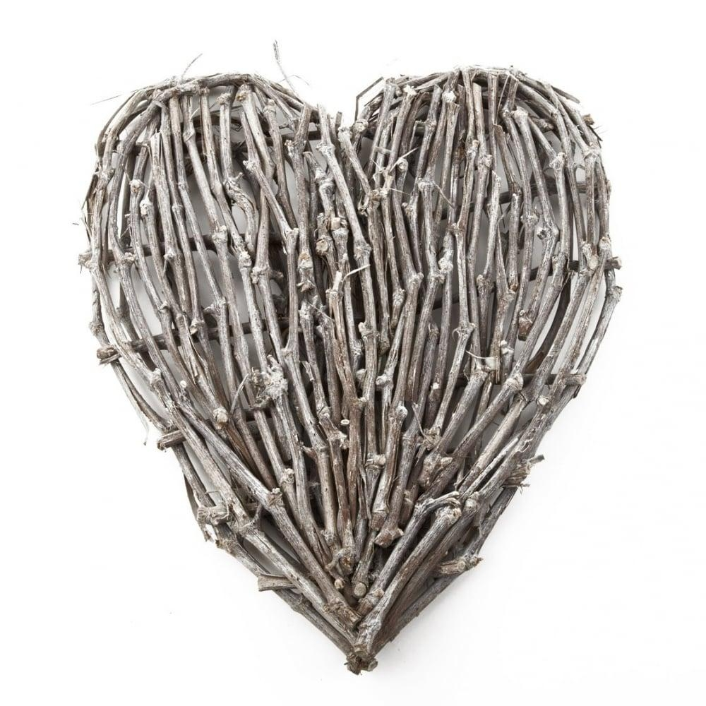 Large Garland Decorative Wicker, Rattan Wall Art Heart In Wicker Rattan Wall Art (Image 5 of 20)