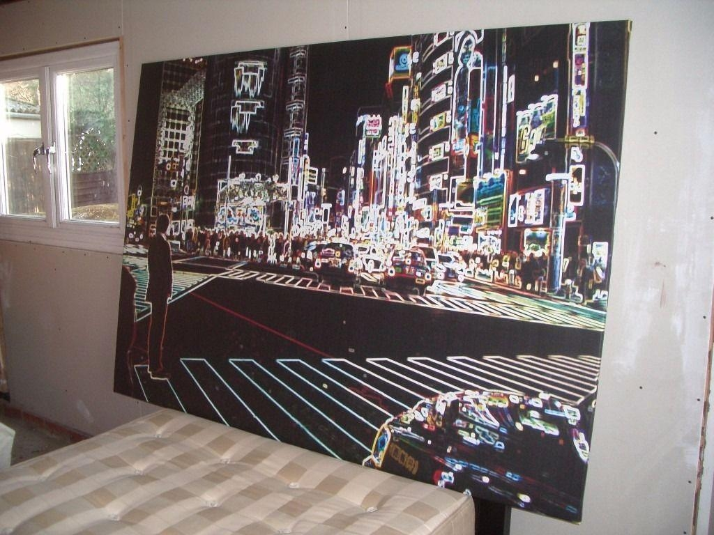 "Large Ikea ""tokyo City Lights "" Canvas 200Cm X 140Cm 