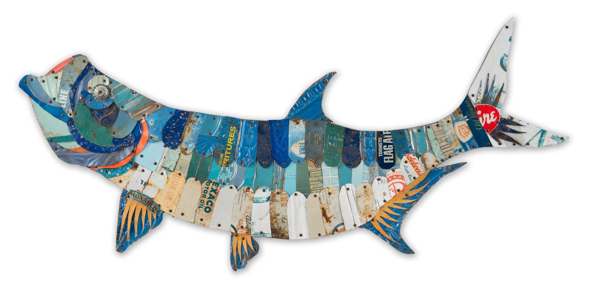 Large Metal Fish Wall Art | Wallartideas With Large Metal Wall Art Sculptures (Image 9 of 20)