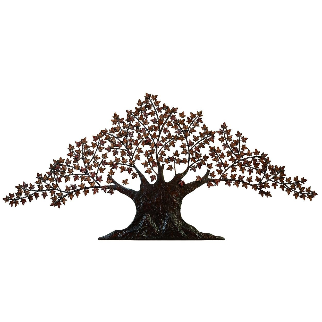 Large Metal Tree Wall Decoration | Roselawnlutheran Pertaining To Windy Oak Tree Metal Wall Art (Image 4 of 20)