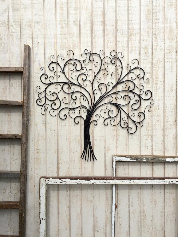 Large Metal Wall Art Metal Wall Decor Tree Wall Art Metal With Regard To Wood And Iron Wall Art (Image 12 of 20)