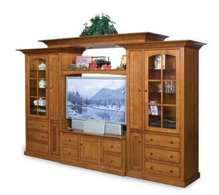 Large Oak Flat Screen Tv Cabinet – Clear Creek Tv Furniture Inside Most Up To Date Oak Tv Cabinets For Flat Screens (Image 9 of 20)