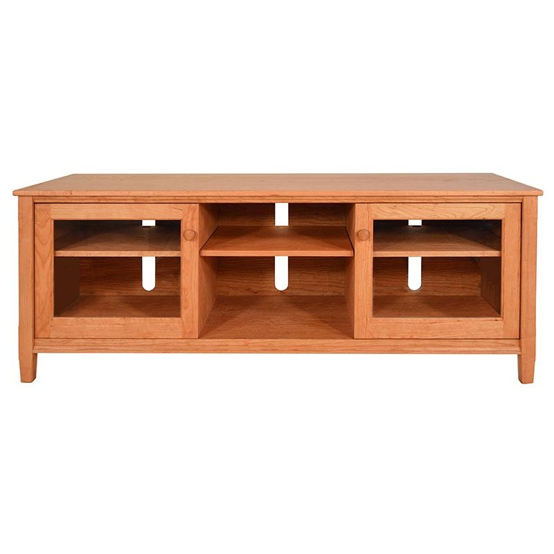 Large Shaker Style Solid Wood Tv Stands & Media Consoles | Us Made Within Most Recently Released Maple Tv Stands For Flat Screens (View 7 of 20)