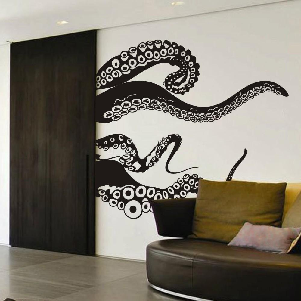 Large Size Kraken Octopus Tentacles Vinyl Wall Decal Home Within Octopus Tentacle Wall Art (View 15 of 20)