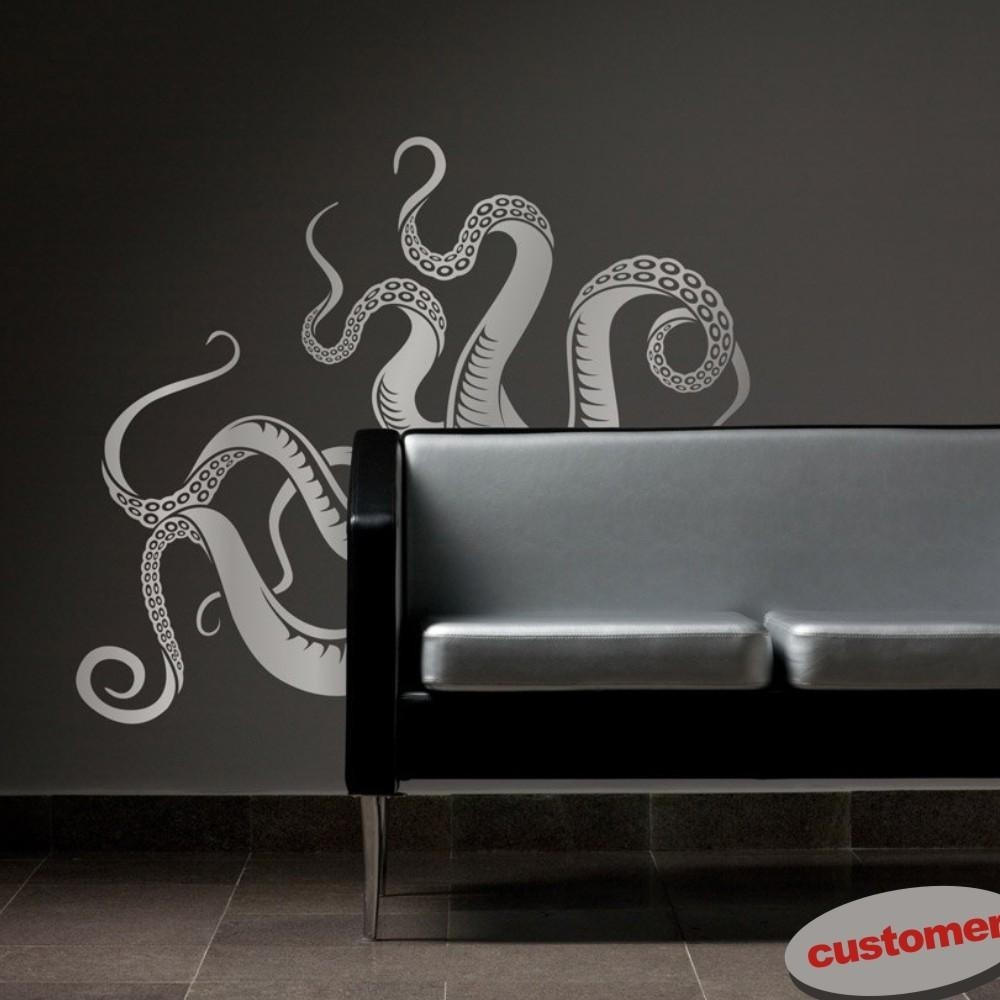 Large Size Octopus Tentacles Vinyl Wall Art Sea Monster Kraken Within Octopus Tentacle Wall Art (Image 10 of 20)