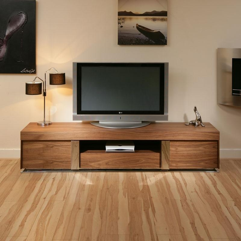 Large Tv Television Cabinet Entertainment Unit Center Walnut Wood Within Latest Walnut Tv Cabinet (View 4 of 20)