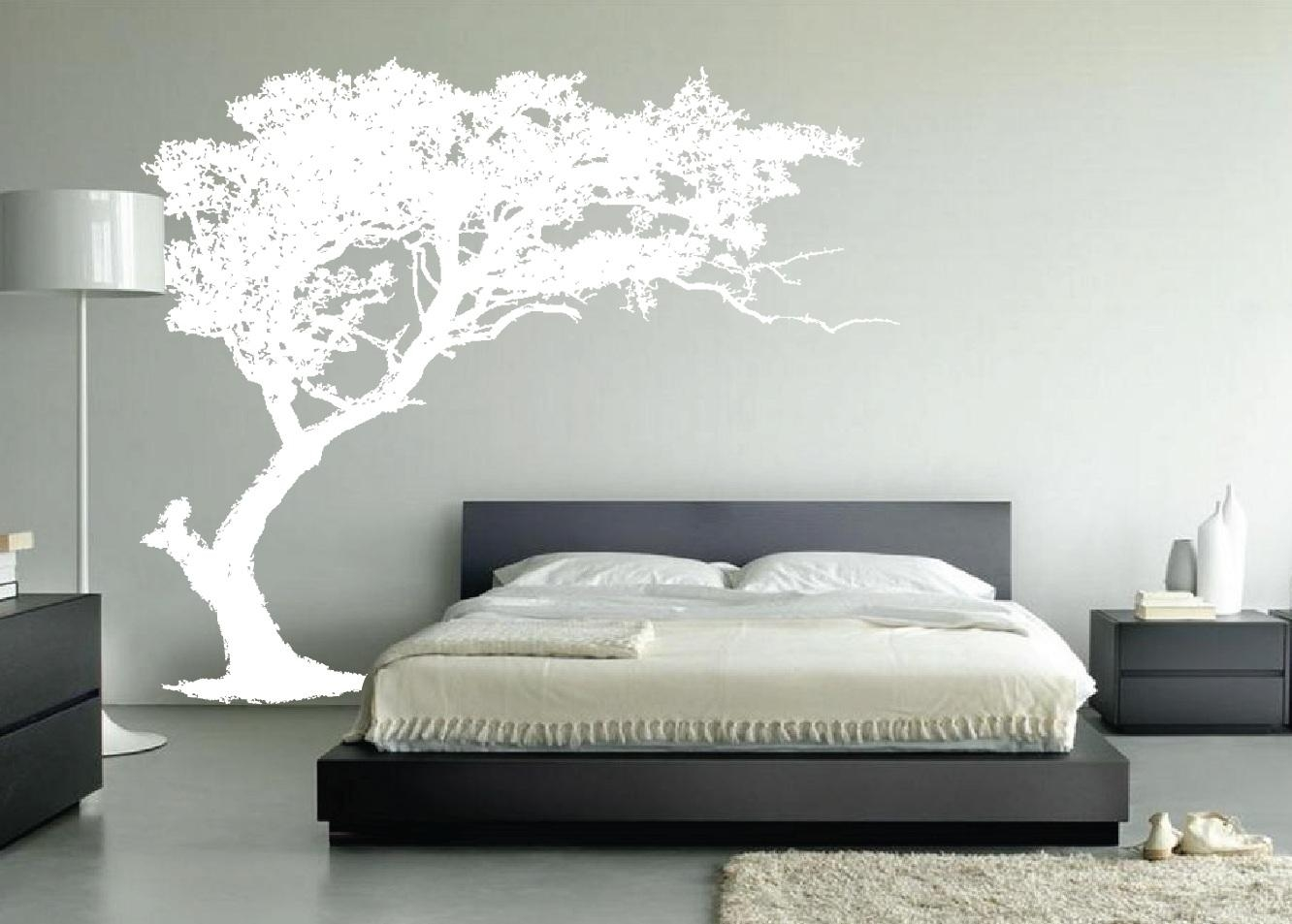 Large Wall Tree Decal Forest Decor Vinyl Sticker Highly Detailed Throughout Oak Tree Vinyl Wall Art (View 10 of 20)