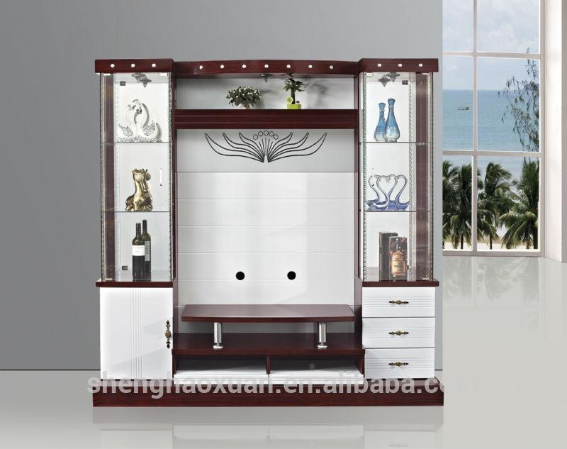 Latest Design Modern Corner Tv Cabinet Led Tv Wall Unit 9904 Regarding Most Recent Modern Lcd Tv Cases (Image 9 of 20)