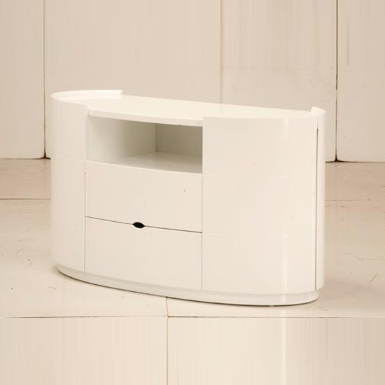 Laura Tv Stands For Bedroom In High Gloss White 9080 Pertaining To Current Corner Tv Unit White Gloss (View 15 of 20)