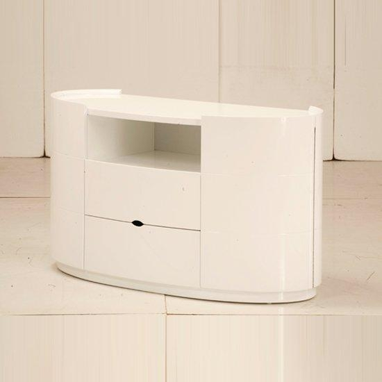 Laura Tv Stands For Bedroom In High Gloss White 9080 Throughout Most Current White Gloss Corner Tv Stand (Image 5 of 20)