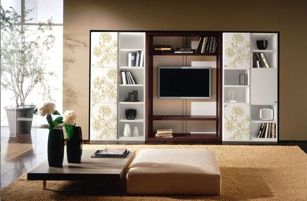 Lcd Wall Storage Cabinets Design Ipc180 – Wall Storage Cabinets With Regard To Most Recent Tv Cabinets With Storage (Image 10 of 20)