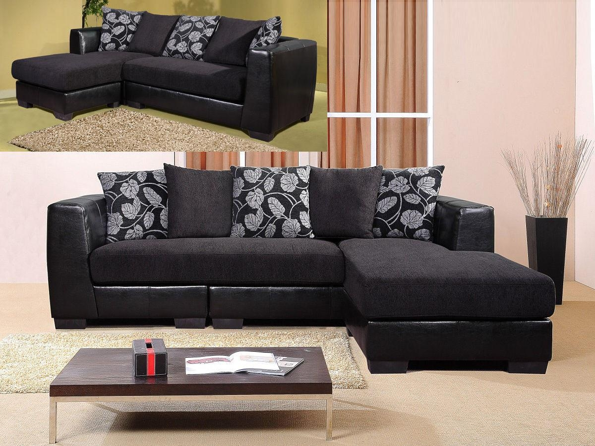 Leather And Fabric Sofas 82 With Leather And Fabric Sofas Pertaining To Leather And Material Sofas (Image 7 of 21)