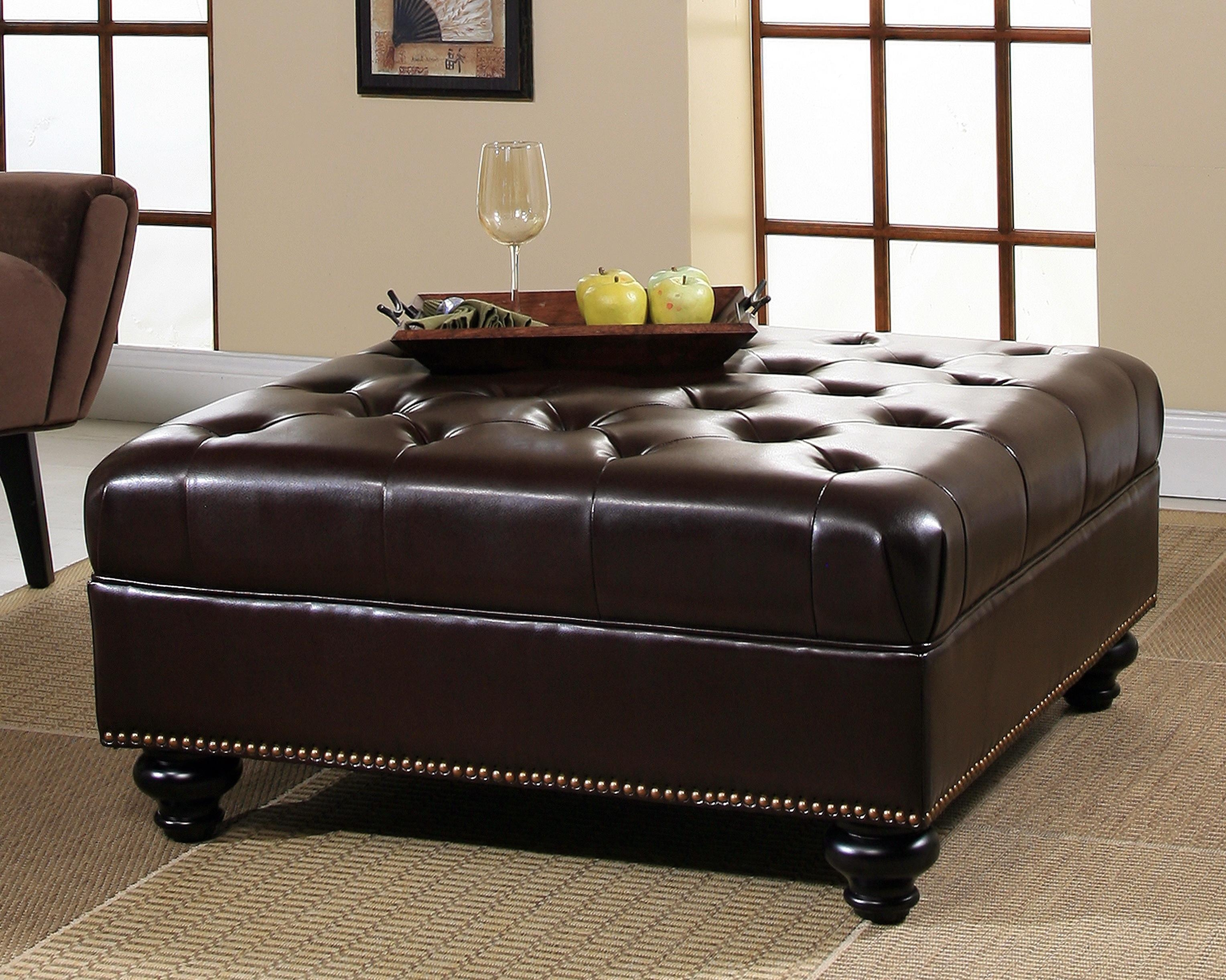 Leather Ottoman Furniture Guide – Leather Sofa Guide With Regard To Leather Storage Sofas (View 13 of 21)