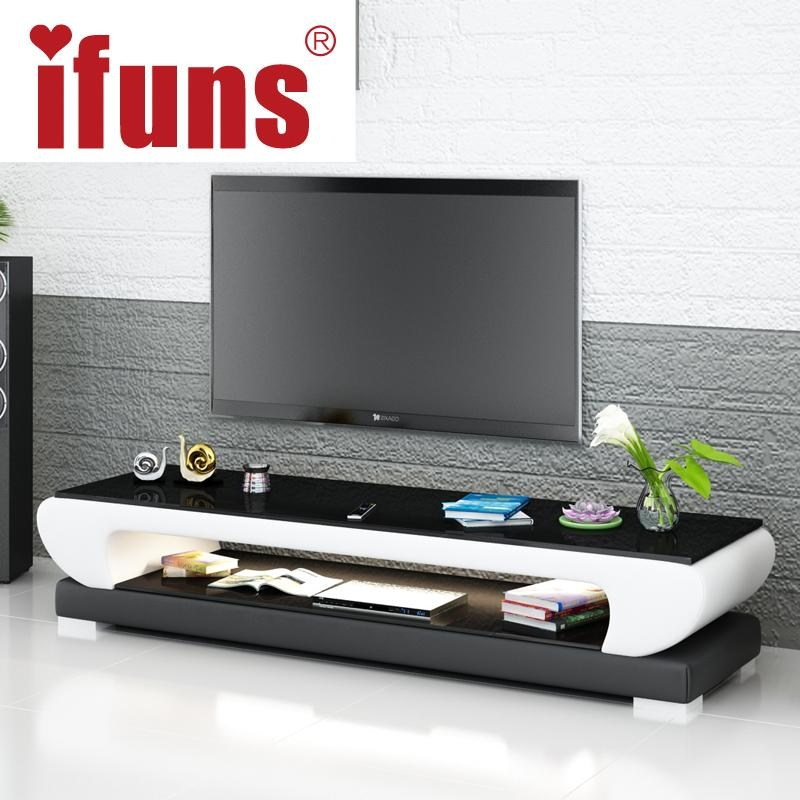 Leather Tv Stand Picture – More Detailed Picture About Ifuns New Intended For Most Recent White And Black Tv Stands (View 10 of 20)