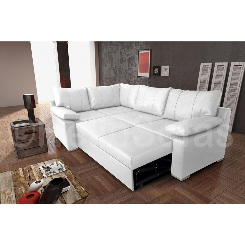Leather White Corner Sofa Bed With Storage — Modern Storage Twin For Leather Storage Sofas (View 8 of 21)