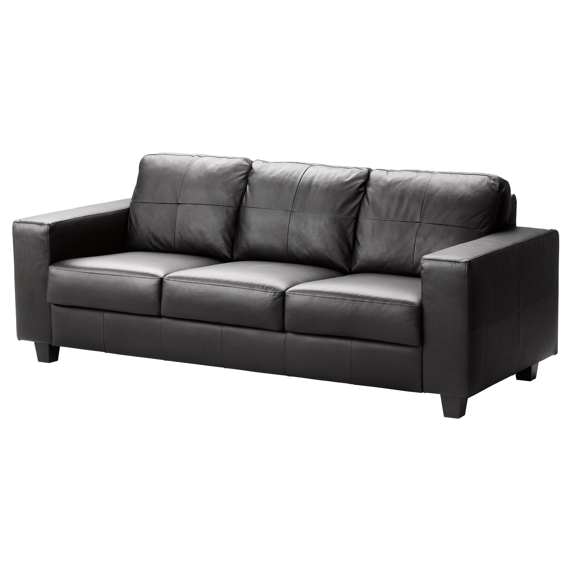 Leather/faux Leather Sofas – Ikea Within Leather And Material Sofas (Image 14 of 21)