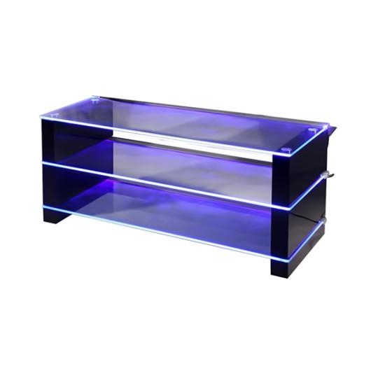 Led Light Black Tv Stand Dml100 Tv Stands Black Big Av Contemporary With Current Tv Stands With Led Lights (View 5 of 20)