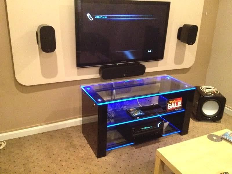 Led Lights For Tv Stand With How Did You Put The Led Light On Tv Within Newest Tv Stands With Led Lights (Image 8 of 20)
