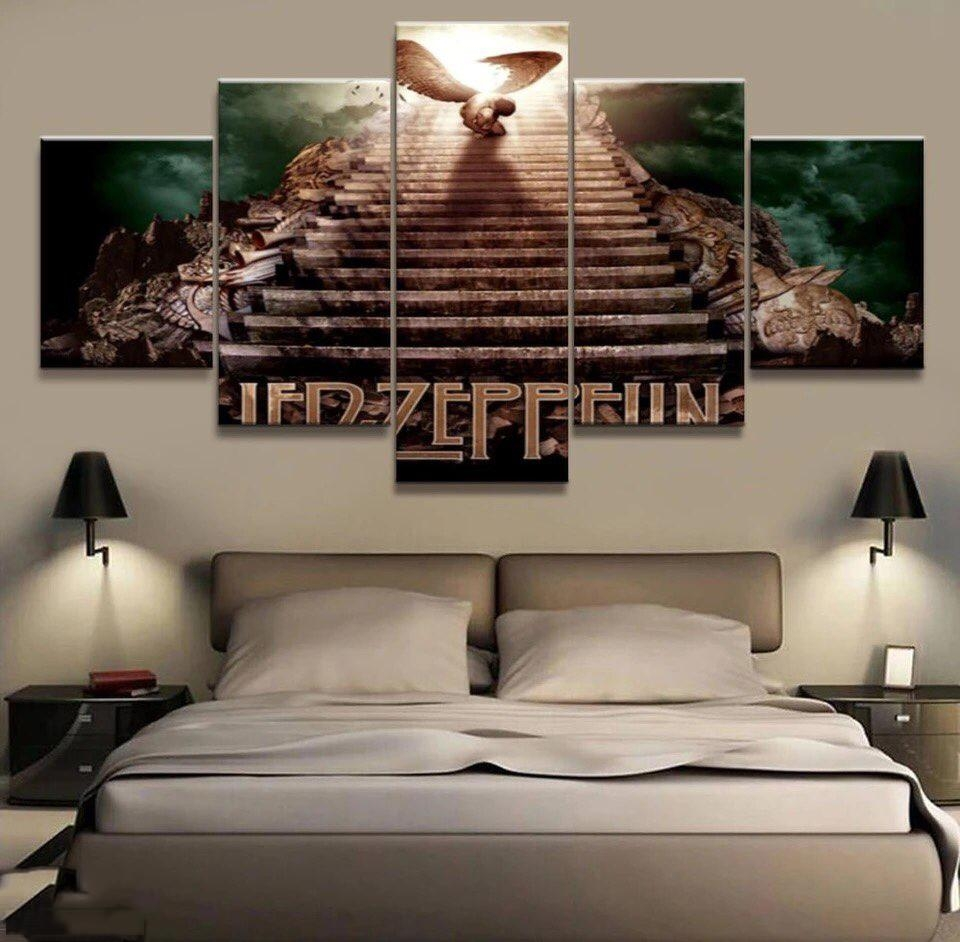 Led Zeppelin 3D Wall Art | Modern Home Designs In Led Zeppelin Wall Art (Image 5 of 20)