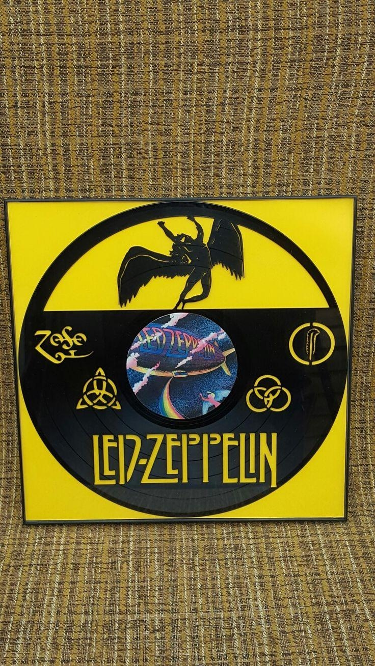 Led Zeppelin Framed Laser Cut Vinyl Record Wall Art | Laser Cut In Led Zeppelin Wall Art (Image 6 of 20)