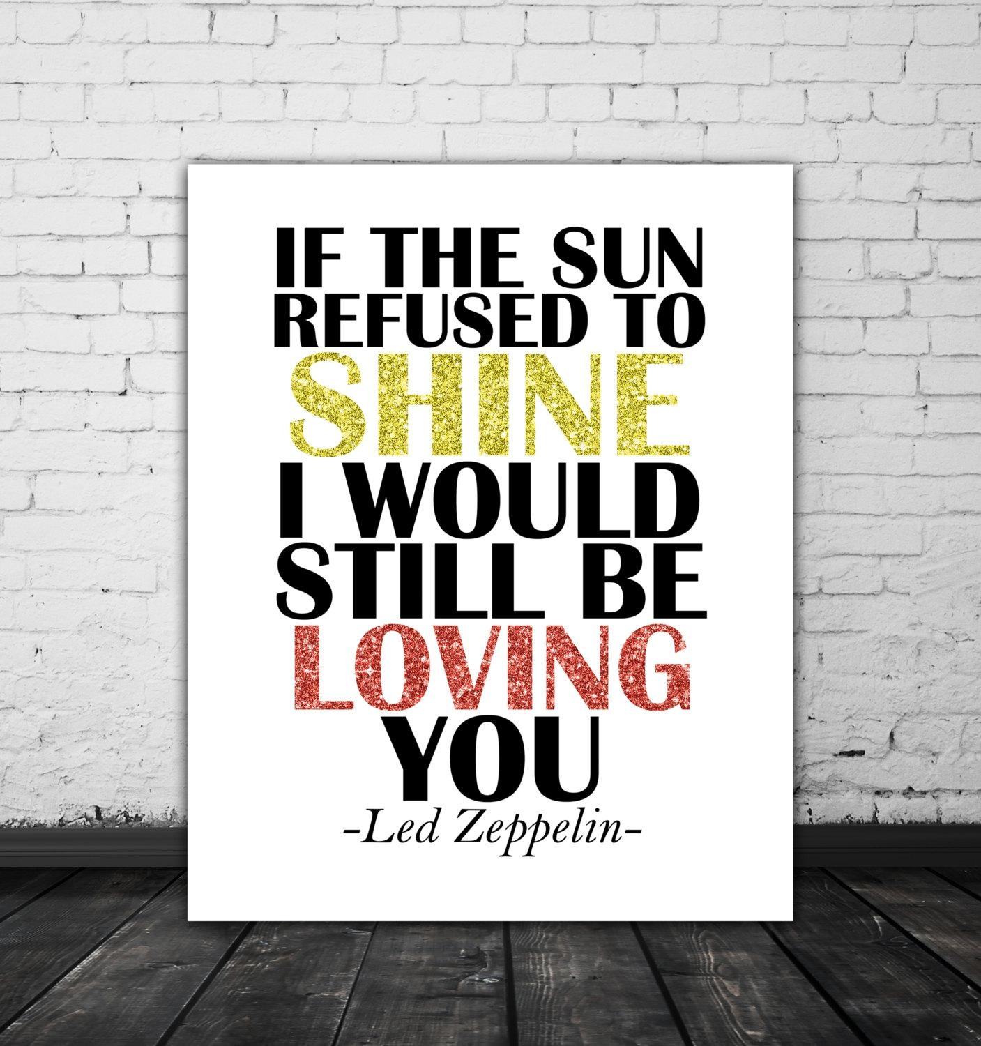 Led Zeppelin Lyrics Love Song Lyric Art Music Poster Led Inside Led Zeppelin Wall Art (Image 7 of 20)