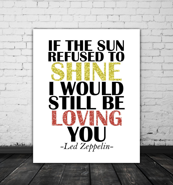 Led Zeppelin Lyrics Love Song Lyric Art Music Poster Led Inside Led Zeppelin Wall Art (View 7 of 20)