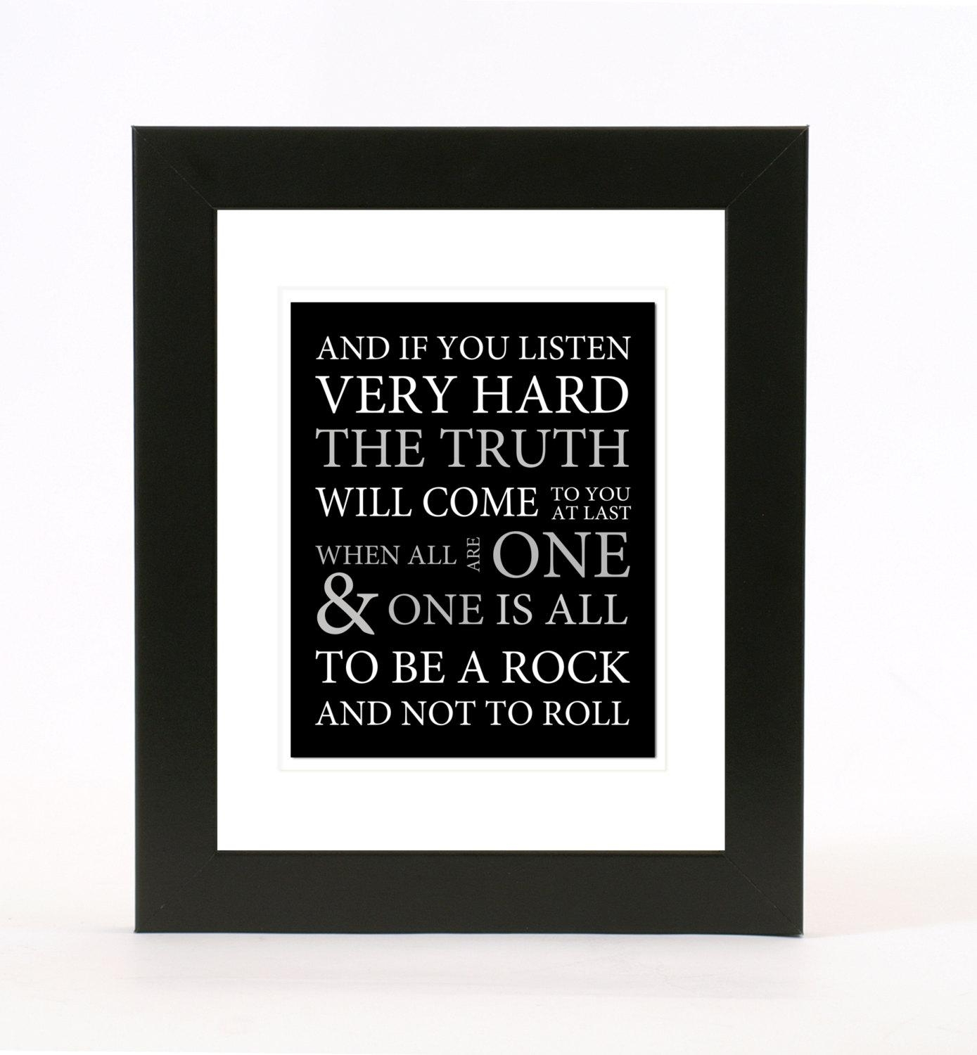 Led Zeppelin: Stairway To Heaven Lyrics Wall Art 8X10 Print For Led Zeppelin Wall Art (View 4 of 20)