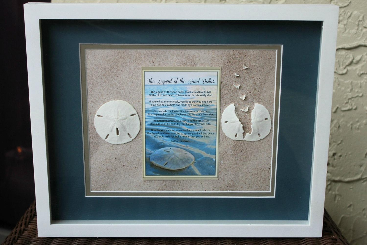 Legend Of The Sand Dollar Shadow Box Wall Art 12X15 Beach With Regard To Sand Dollar Wall Art (Image 6 of 20)