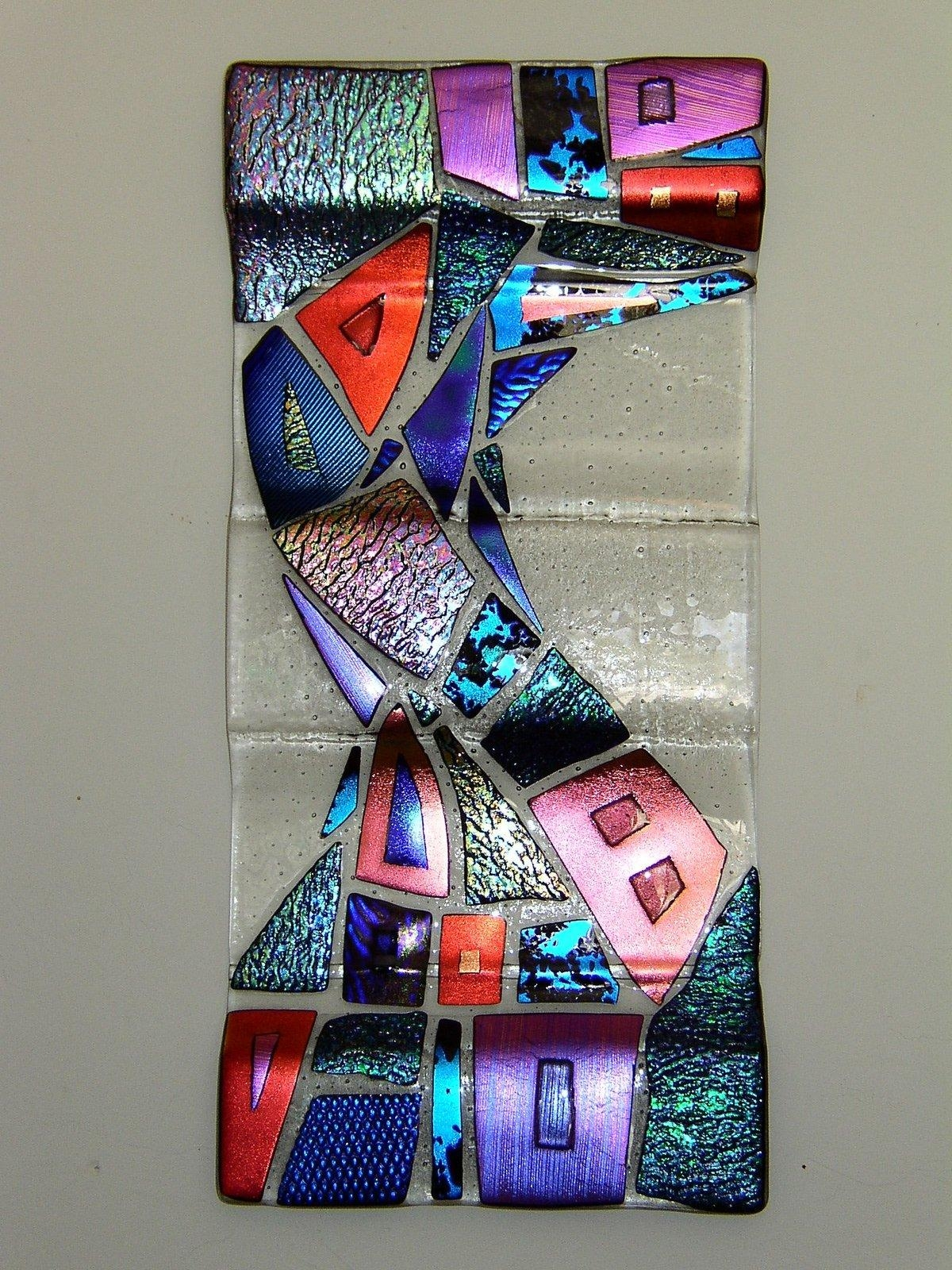 Featured Photo of Fused Dichroic Glass Wall Art