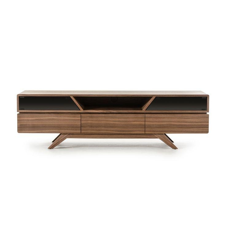 Let Your Tv Stand Out On This Soria Walnut Tv Stand From Vig Pertaining To 2018 Walnut Tv Cabinets With Doors (Image 10 of 20)