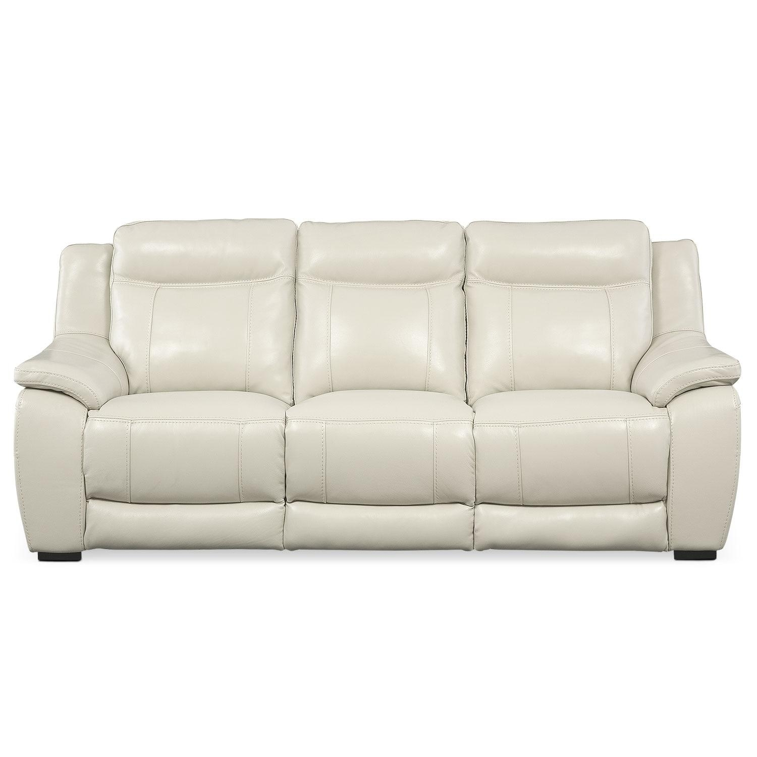 Lido Sofa – Ivory | Value City Furniture Inside Ivory Leather Sofas (View 8 of 20)