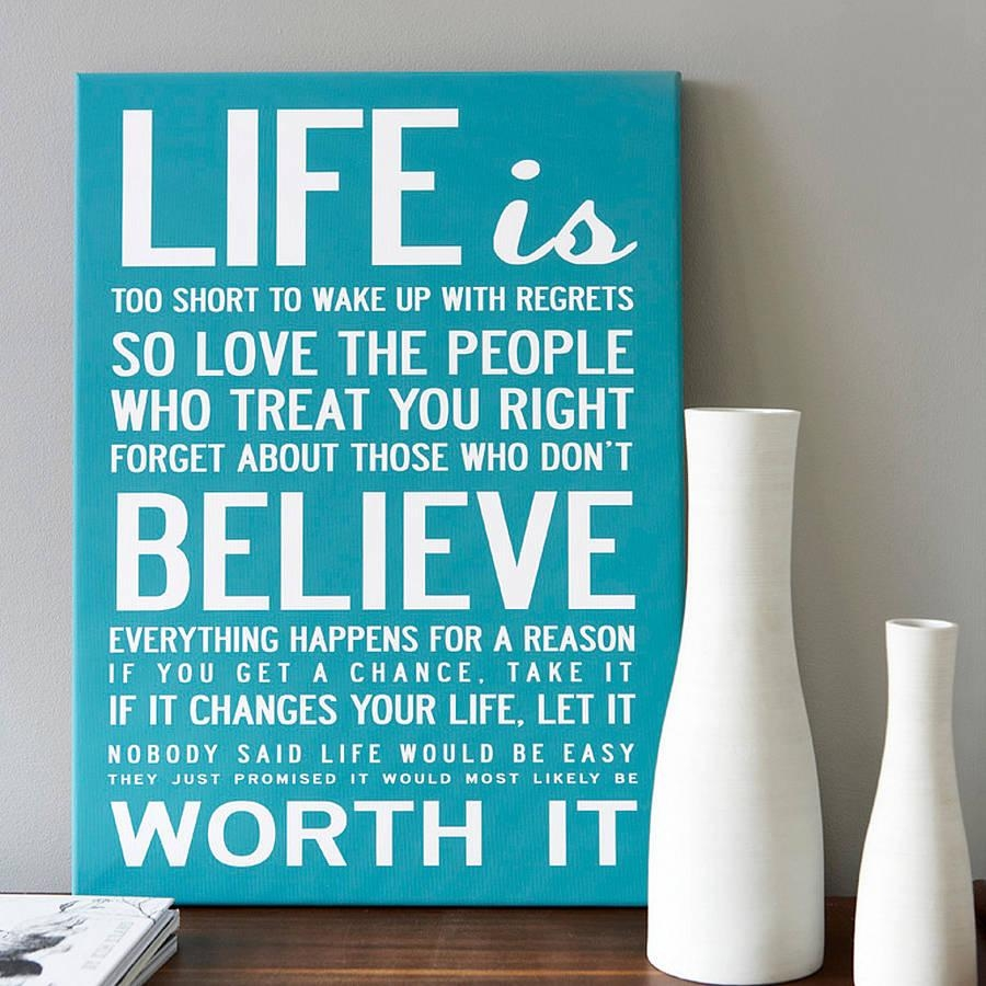Love Quotes On Canvas 20 Photos Inspirational Quotes Canvas Wall Art  Wall Art Ideas