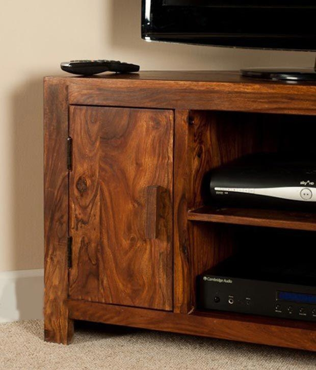 Lifeestyle – Handcrafted Sheesham Wood Tv Stand – Buy Lifeestyle Pertaining To Most Popular Sheesham Tv Stands (Image 12 of 20)