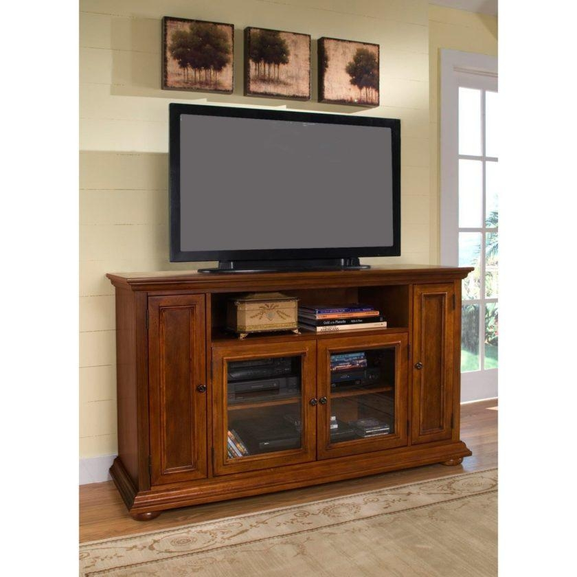 Light Brown Pine Wood Tv Stand With Storage Shelf Of Tall Tv With Regard To Most Current Light Colored Tv Stands (Image 8 of 20)