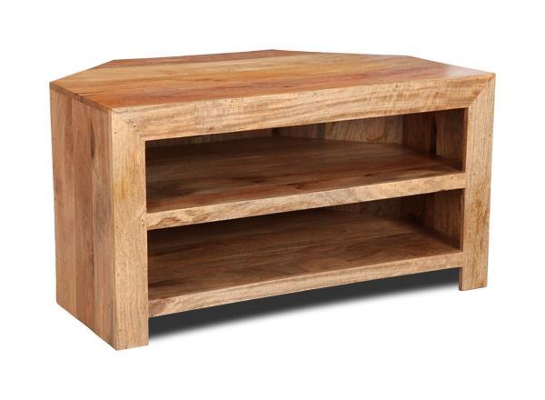 Light Mango Corner Shelf Tv Unit | Trade Furniture Company™ For Recent Mango Tv Unit (Image 12 of 20)