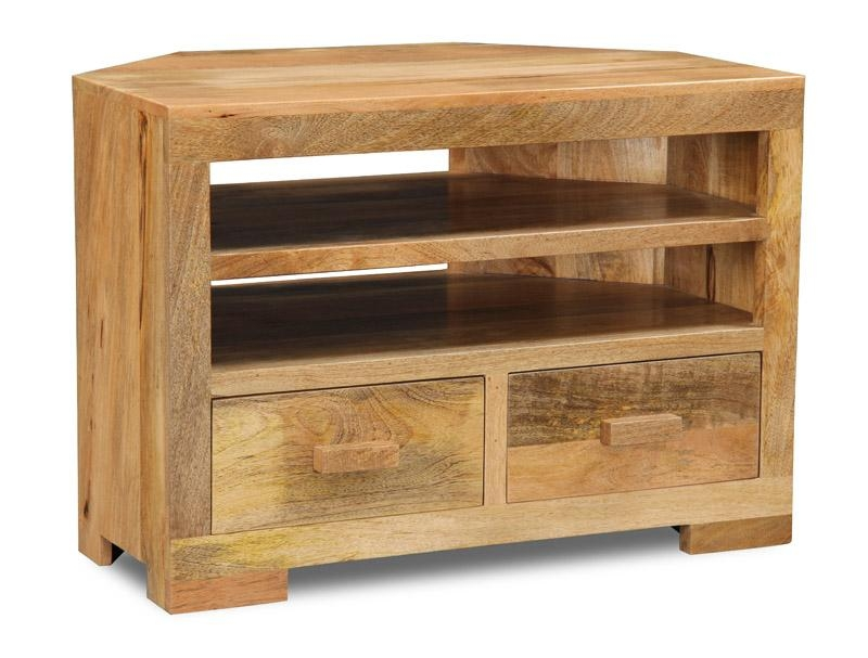Light Mango Corner Tv Unit | Trade Furniture Company™ In Recent Wooden Corner Tv Units (Image 13 of 20)