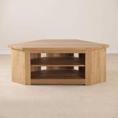 Light Wood & Oak Tv Stands | Ponsford Inside Most Up To Date Light Oak Corner Tv Cabinets (Image 11 of 20)