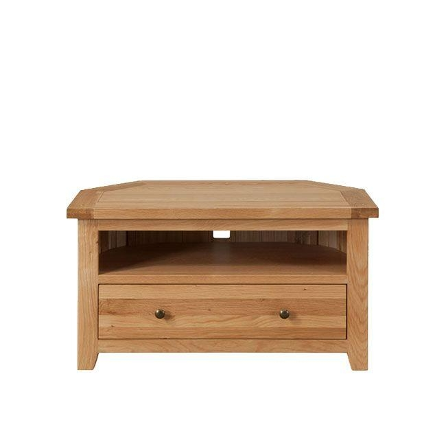 Light Wood & Oak Tv Stands | Ponsford With Regard To Best And Newest Light Oak Corner Tv Cabinets (View 10 of 20)
