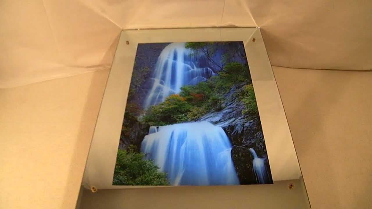 Lighted Moving Motion Waterfall Mirror With Nature Sounds – Youtube Within Moving Waterfall Wall Art (Image 6 of 20)